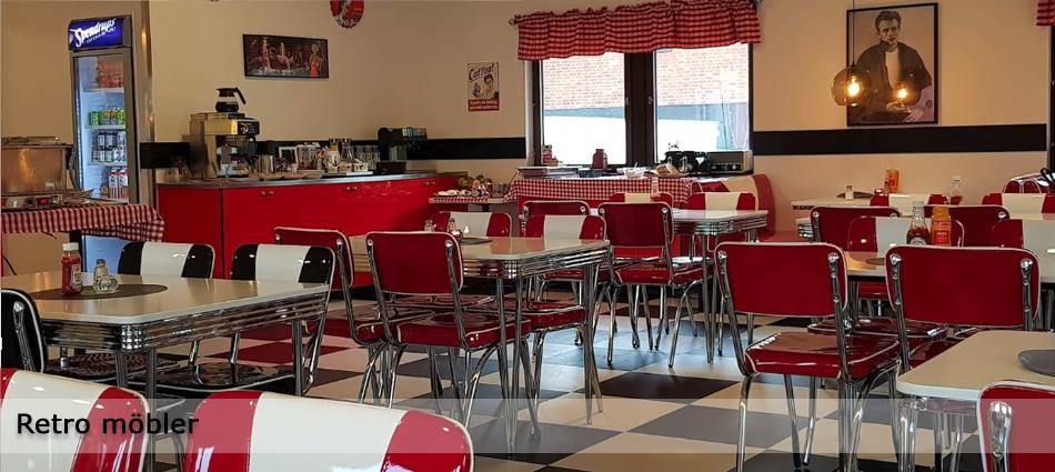 American Retro Mobler American Diner For Restauranger Cafeer Hem